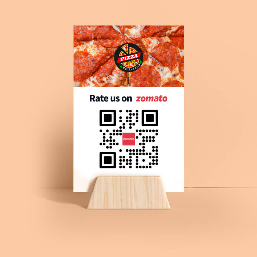 rate us on zomato qr code